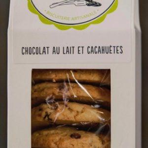 cookies au chocolat au lait et cacahuetes