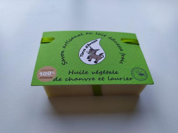 savon artisanal lait d'ânesse huile de chanvre laurier