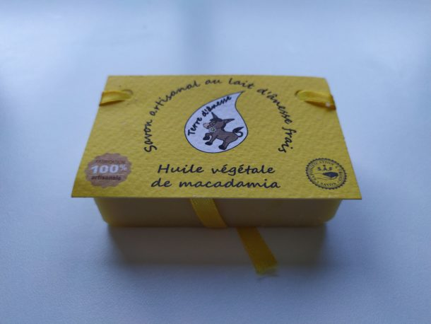 savon artisanal lait d'ânesse huile de macadamia