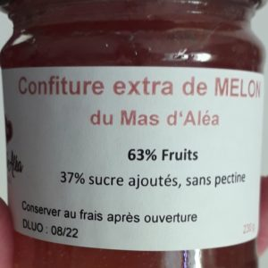confiture extra melon artisanale