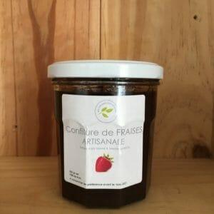 confiture de fraises artisanales en vente directe producteur