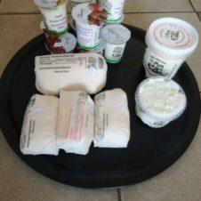 panier produits laitiers en vente directe